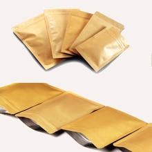 10pcs Kraft Paper Zip Lock Pouch with Aluminum Foil Food Tea Packaging Bag Snack Coffee Storage Bag Resealable Zipper bag