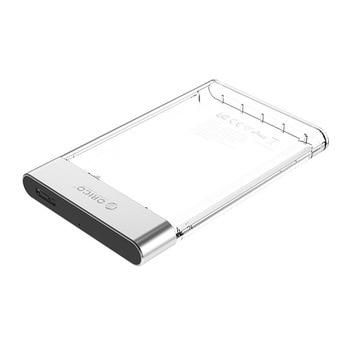 ORICO 2129U3 USB3.0 Micro-B Hard Drive Enclosure Transparent 2.5 inch HDD/SSD Mobile Case External Box for Windows/Mac/Linux