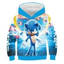 Sonic 3d nova moda pulôver hoodies casual manga longa moletom 3d meninos/meninas roupas pai-criança fino estilo dos desenhos animados casaco