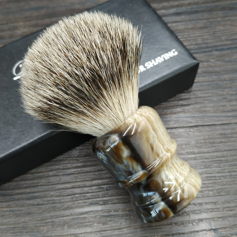 Dscosmetic Super Badger Hair Shaving Brush And Resin Handle