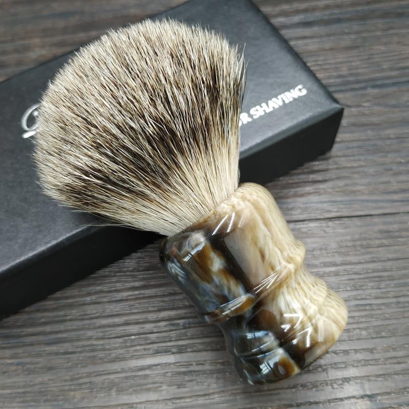 Щетка для бритья и полимерная ручка Dscosmetic super badger