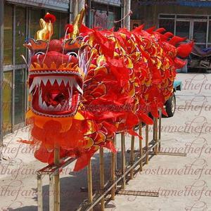 Image 1 - למבוגרים נגן גודל 4 משי frabic הסיני DRAGON ריקוד מקורי הדרקון הסיני עממי פסטיבל חגיגה הדרקון תלבושות