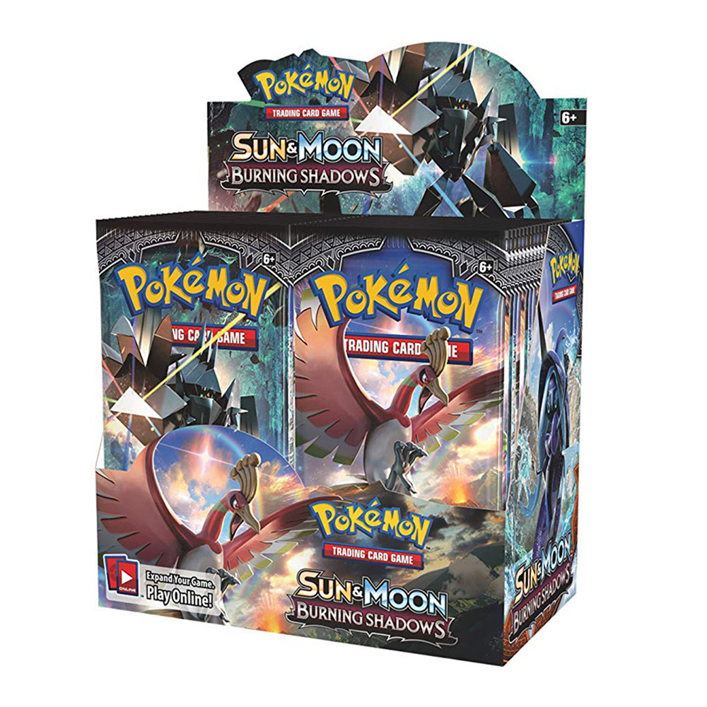 324Pcs Pokemon TCG: Sun & Moon Burning Shadows Sealed Booster Box Trading Card Game Set Gift Toy For Kids