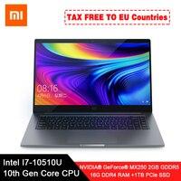 """Original xiaomi portátil pro 15.6 """"enhanced notebook i7 10510U mx250 2 gb gddr5 memória 16 gb ram 1 tb ssd computador fhd exibição Notebooks     -"""