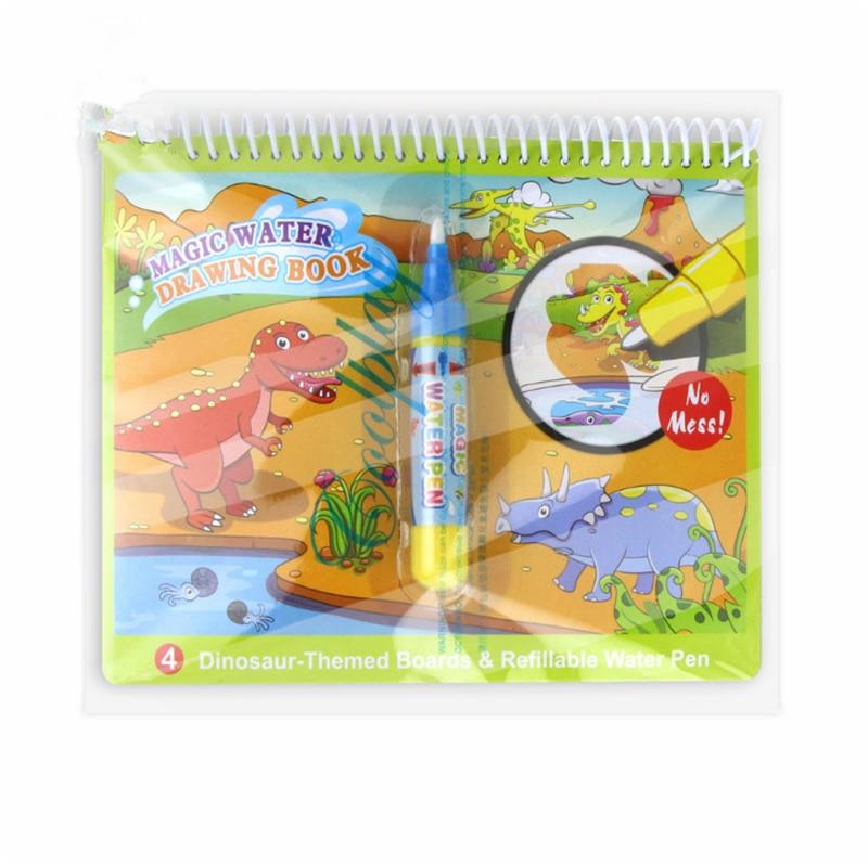 8 tipi di Magic Water Disegno Libro di Scrittura Libro Da Colorare Per I Bambini Pittura Zerbino Precoce Giocattolo Educativo per I Bambini