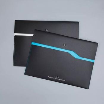 6 Pcs Color Double-layer File Bag A4 Folder Classic Snap Waterproof Dirt Resistant Data Document Filing
