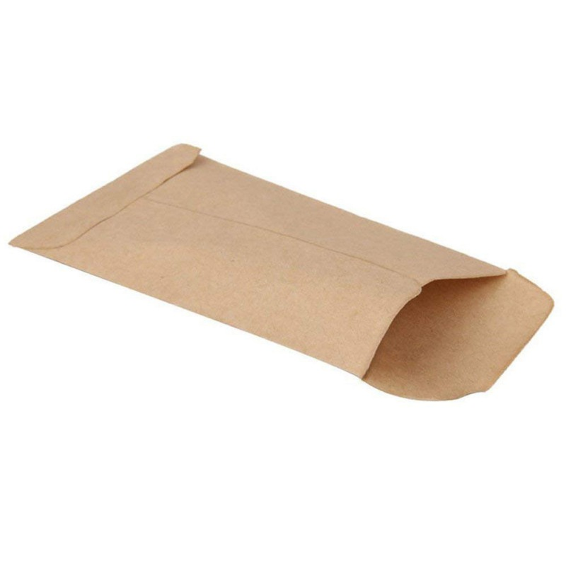 100 Pieces Envelopes Kraft Paper Bags Mini Coin Packets Envelopes For Home And Garden Use 2 Size