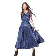 Новое поступление дизайнерское вышитое платье без рукавов и