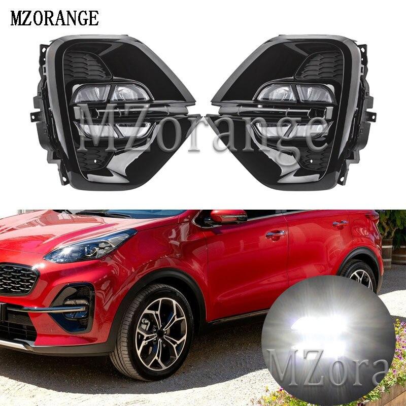 MZORANGE 2 pièces pour Kia sportage KX5 2019 feux diurnes DRL LED feux de jour avant pare chocs tête antibrouillard blanc voiture style