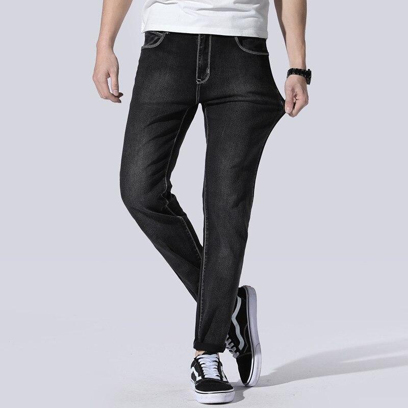 Spring Summer MEN'S Jeans Slim Fit Korean-style Straight Slim Popular Brand Pants Stretch Pants