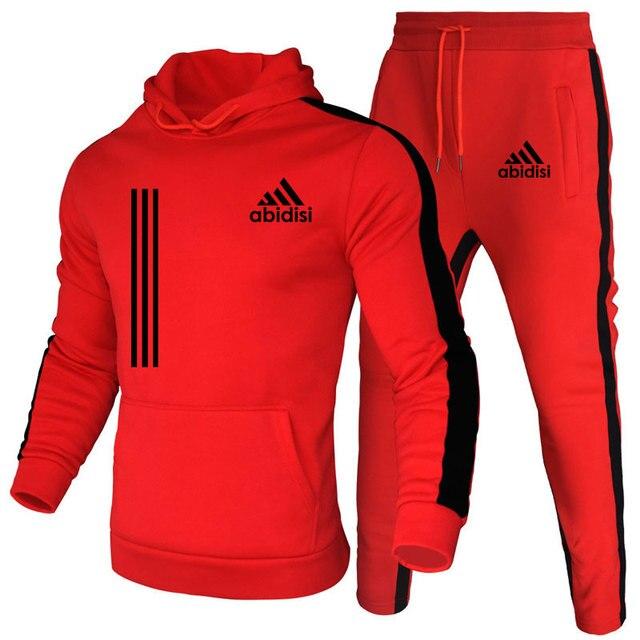 Chándal de marca de moda para hombre, conjunto de Sudadera con capucha y pantalones de chándal, ropa informal, Otoño, novedad 2