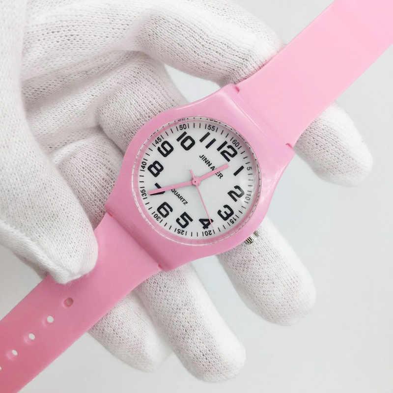 Hot mode rose gelée sangle enfants montres filles analogique Quartz montre pour garçon étudiant sport montres femme femmes reloj cadeau