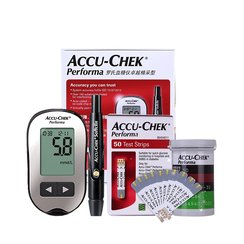 Accu Chek Performa Blood Glucose Meter Sugar Actieve Diabetic Tester Diabetes Glucosemeter Monitor Meting Test Strips