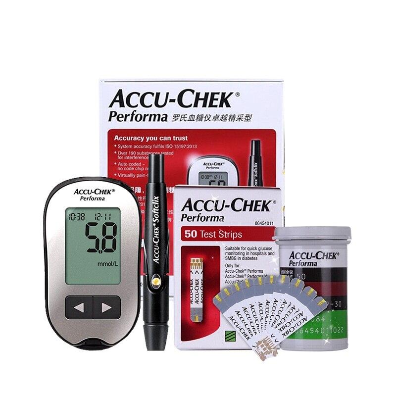Accu Chek Performa lecteur de glycémie sucre Actieve testeur diabétique diabète glucosemètre moniteur Meting bandelettes de Test
