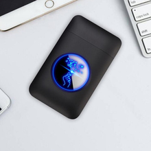 USB lighter and cigarette box case Creative Graphic display charging Windproof flameless Electronic Cigarette