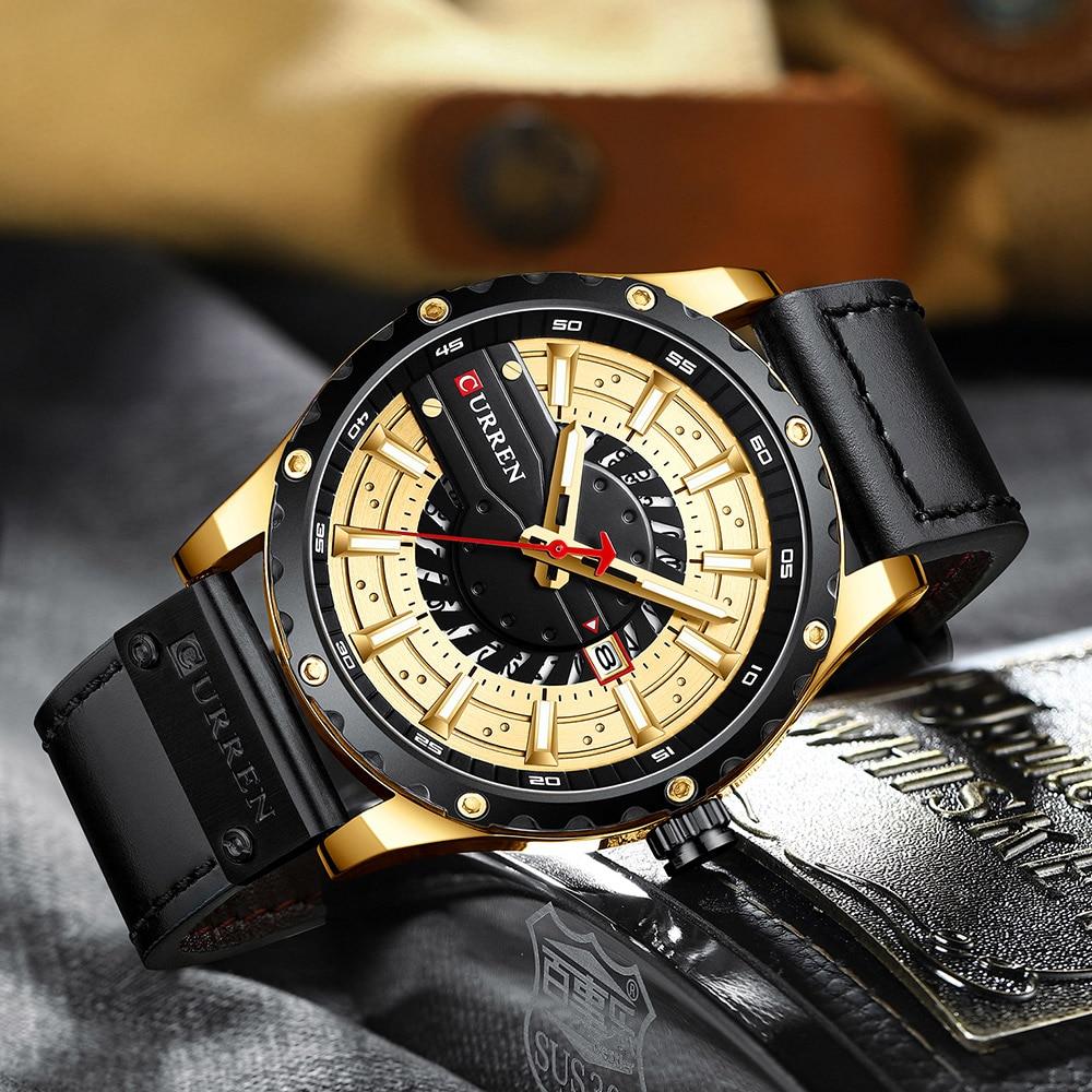 Hbcdc75f970014fa59a57557bb9afa48d1 CURREN Watch Wristwatch  New Chic Luminous hands