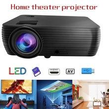Smart X5 умный мультимедийный проектор медиаплеер часы кино красный синий 3D Поддержка 1080P для домашнего аудио USB светодиодный проектор