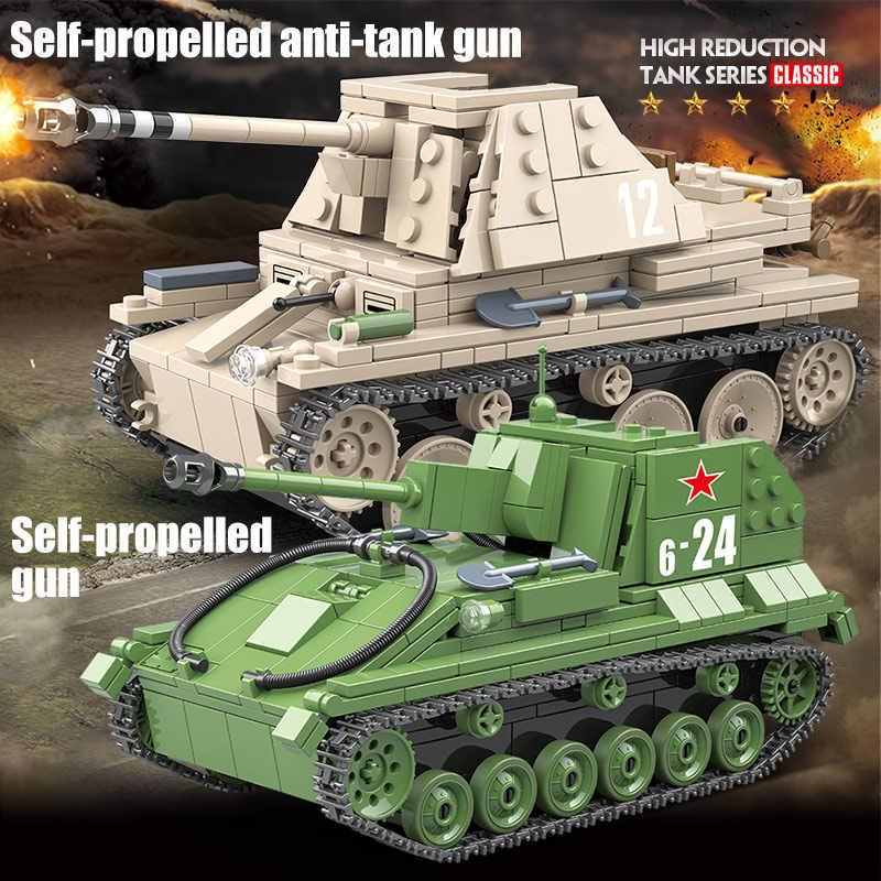 الجيش سو 76 متر الاتحاد السوفياتي ضوء خزان اللبنات مدينة WW2 ماردر 3 دبابات الجنود أرقام كتل اللعب للبنين