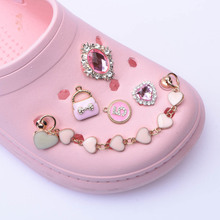 1 Pcs New Croc Designer Chain Shoe Charms Accessories Decoration for Croc Clog Shoes Pendant Buckle for Girl Gift