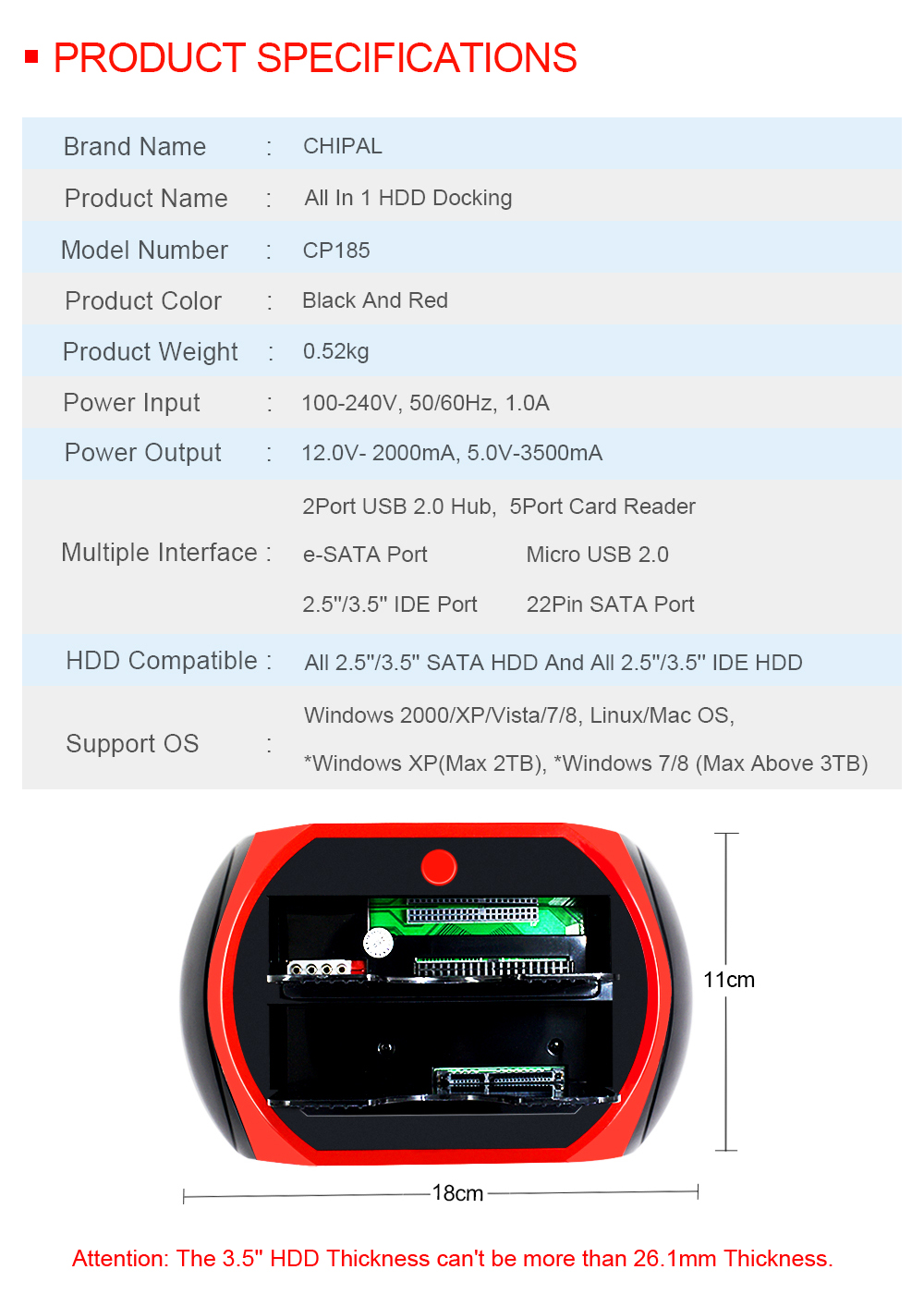 Product Specifications-
