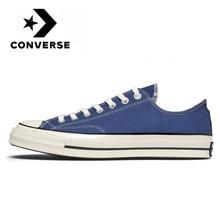 Men's and women's comfortable skateboard shoes, canvas flat shoes, daily leisure, light blue, original, Converse Chuck, 1970s
