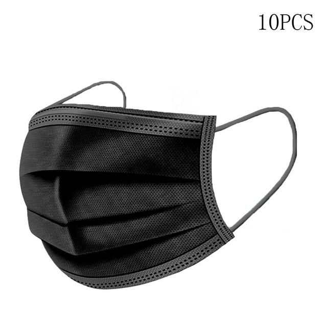 In stock! Black Mouth Mask Dust Cotton Black Face Masks Non-Woven Mask 3 Filter Activated Anti Pollution