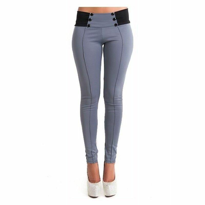 Plus Size Trousers Women Office Lady Slim Elegant Winter Warm Pencil Pants High Waist Stretch Thickening Leggings