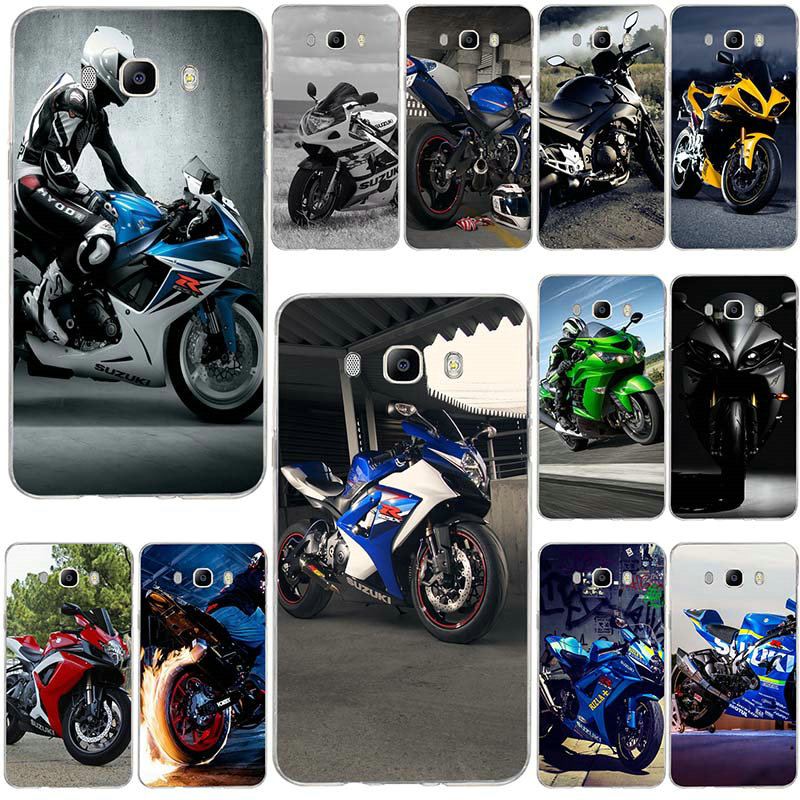 Retro Motorcycle Race Motor Soft Silicone <font><b>Mobile</b></font> Phone <font><b>Cases</b></font> For <font><b>Samsung</b></font> Galaxy J3 J4 J5 J6 <font><b>J7</b></font> J8 A3 A5 A7 2016 <font><b>2017</b></font> 2018 Shell image