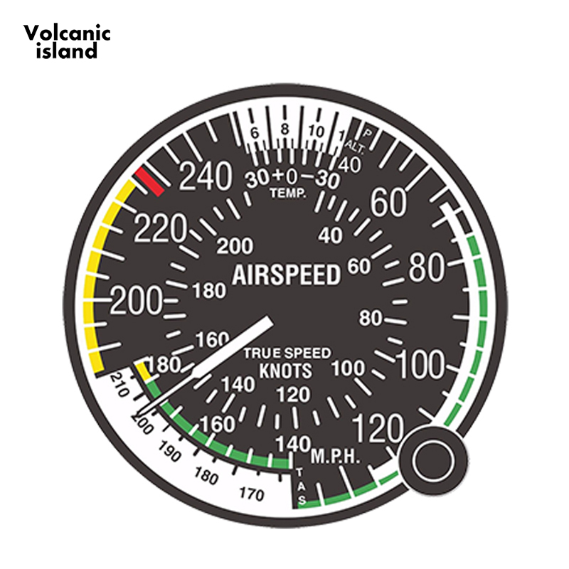 13cm x 13cm Car Styling Decal Airspeed Indicator FAA Air Force for Bumper <font><b>Laptop</b></font> <font><b>Locker</b></font> Tablet Funny Car Sticker image