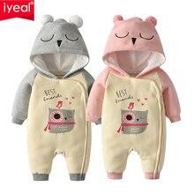 Iyeal новые для маленьких мальчиков и девочек; Хлопковый комбинезон