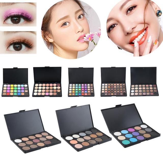 40 Color Matte Eyeshadow Palette Glitter Eye Shadow Waterproof Long Lasting Make Up Pallet Nude Shimmer Fashion Beauty TSLM1 New 5