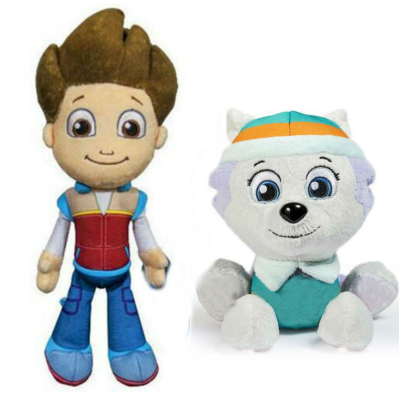 100% New Paw Patrol 2020 Hot 20cm Everest Tracker Apollo Ryder Plush Figure Toys Model Doll Children Toy Kids Birthday Gift