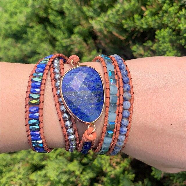 Lapis Lazuli Third Eye Chakra Bracelet hand