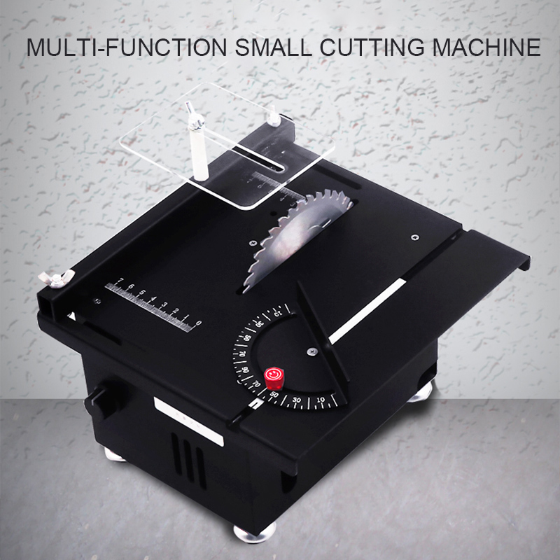 Mini Miniature Aluminum Table Saw DIY Wood Bench Saw Woodworking Cutter Chainsaw Cutter