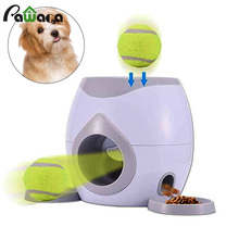 Dog Training Toy Automatic Pet Feeder Tennis Awards Machine Interactive Pet Ball Toys Food Reward Launcher Slow Feeder For Dogs