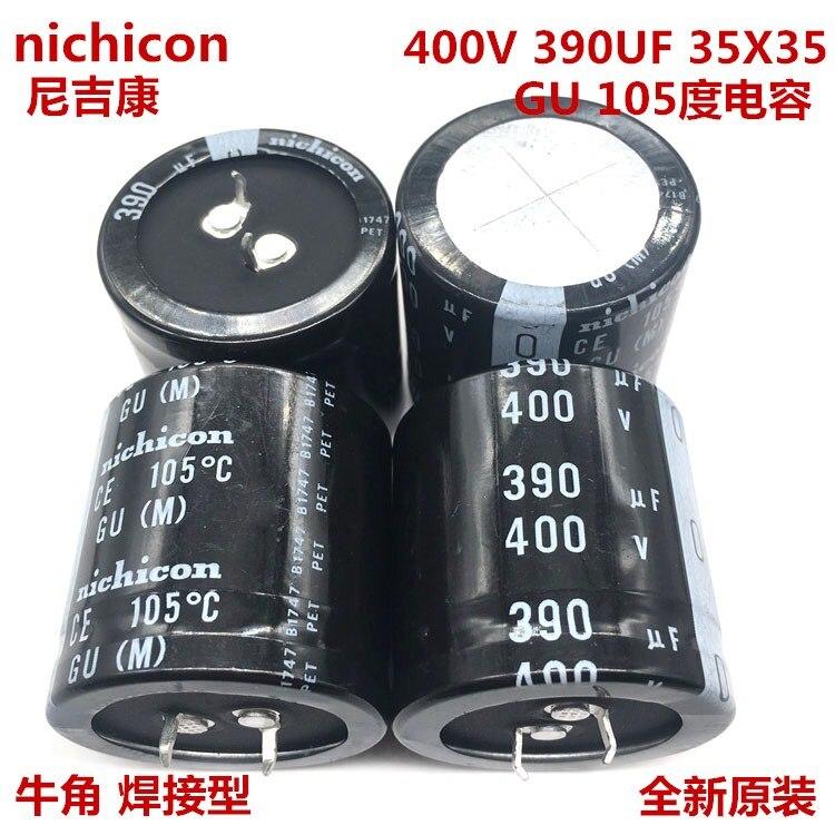 1-10pcs 100% Orginal New  400V 390UF 35X35 390UF 400V 35x35 GU 105 Electrolytic Capacitance