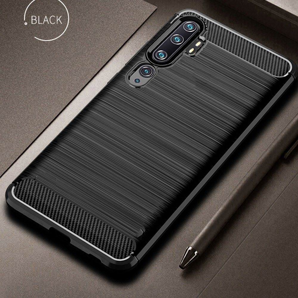 For Xiaomi Mi Note 10 Pro Case Carbon Fiber Cover Shockproof Phone Case For Mi Note10 CC 9 CC9 Pro Cover Full Protection Bumper