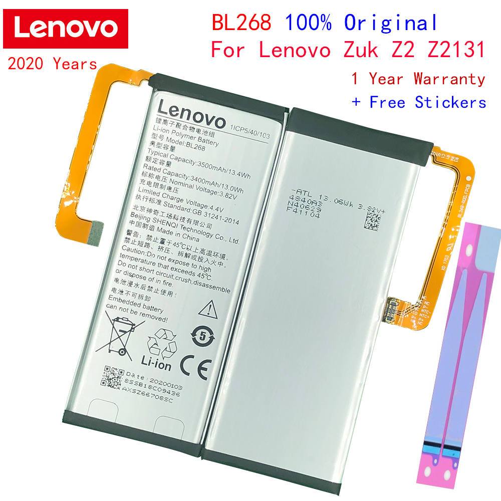 Original Lenovo BL268 Battery for Lenovo zuk Z2 Z2131 Z2 Plus Batteries image