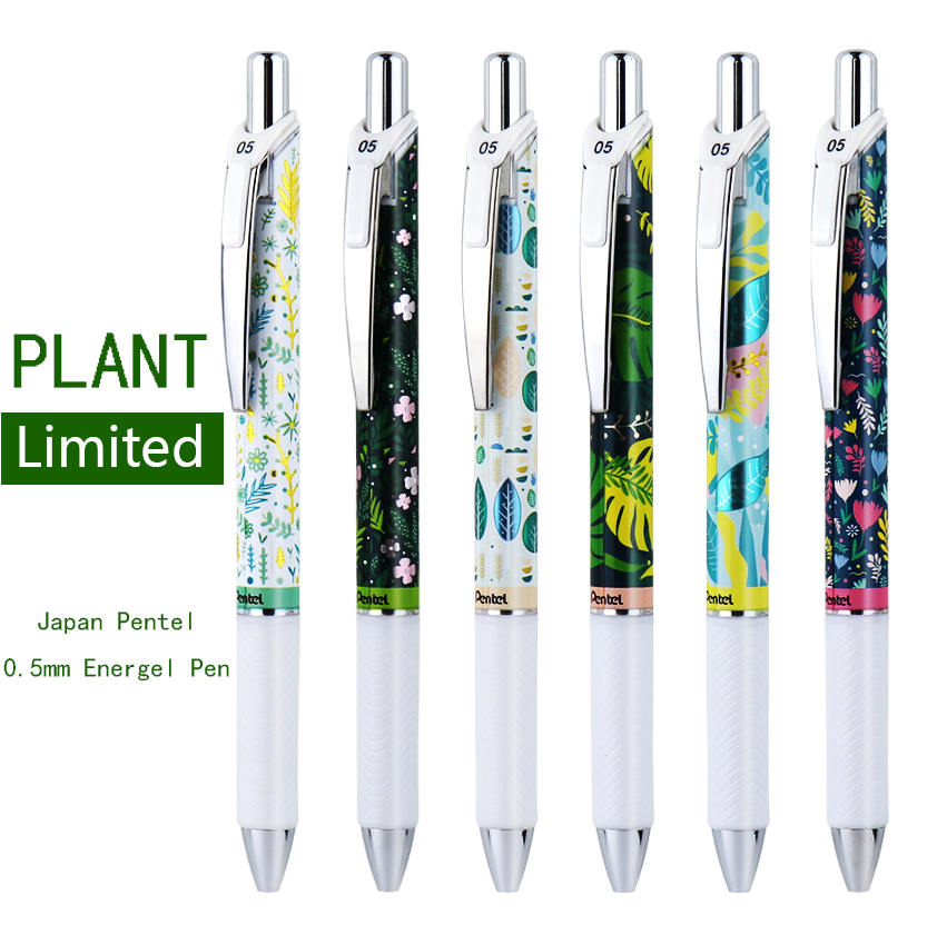 Japanese Pentel Limited Gel Pen 0.5mm Black Pens Fast Dry Energel Ink Kawaii Stationery Writing Supplies