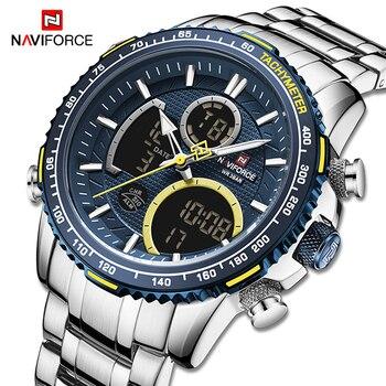NAVIFORCE Men Watch Luxury Brand Sport Style Watches Mens Chronograph Quartz Wristwatch Male Waterproof Clock Relogio Masculino