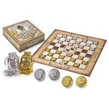 Board Game Harri Chess Metal Gringots Coin Checkers Set Silver and Gold Pieces Fans Collector's Edition(China)