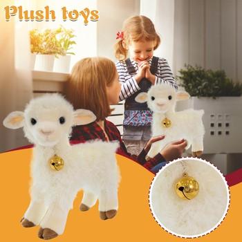 Kawaii pluszowe syjamskie lalki wypchane zwierzęta pluszowe zabawki symulacja mała owieczka Lamb Bell Doll śliczny pokój ozdoby do wystroju domu tanie i dobre opinie CN (pochodzenie) plush toy doll COTTON W wieku 0-6m 7-12m 13-24m 25-36m 4-6y 7-12y 12 + y little sheep plush doll Z owcy
