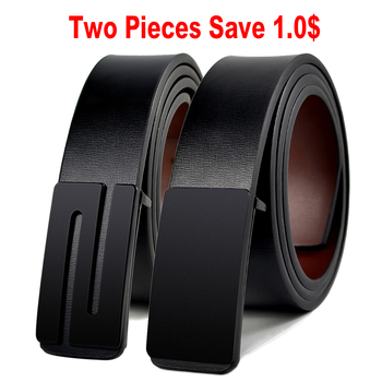 JACNAIP Vintage Leather Belts for Men Genuine Luxury Strap Smooth Buckle Cowboy Casual Design Brand Male Belts Ремни мужские 2