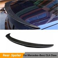 For Mercedes Benz CLA Class C117 Sedan Base Sport CLA250 CLA45 AMG 2014 2019 Trunk Lip Spoiler Carbon Fiber Rear Wing