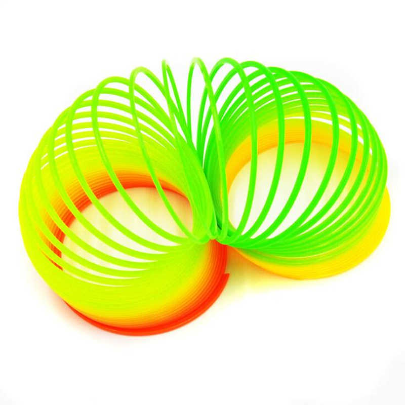 Juguetes De rebote mágico juegos de mesa para niños antiestrés anillo mágico primavera Arco Iris juego de mesa niños divertidos regalos