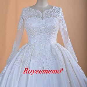 Image 5 - 2020 Full ประดับด้วยลูกปัด TOP งานแต่งงานชุดยาวแขนงานแต่งงานชุดที่กำหนดเองขายส่งเจ้าสาวชุดใหม่ชุดเจ้าสาวชุดบอล