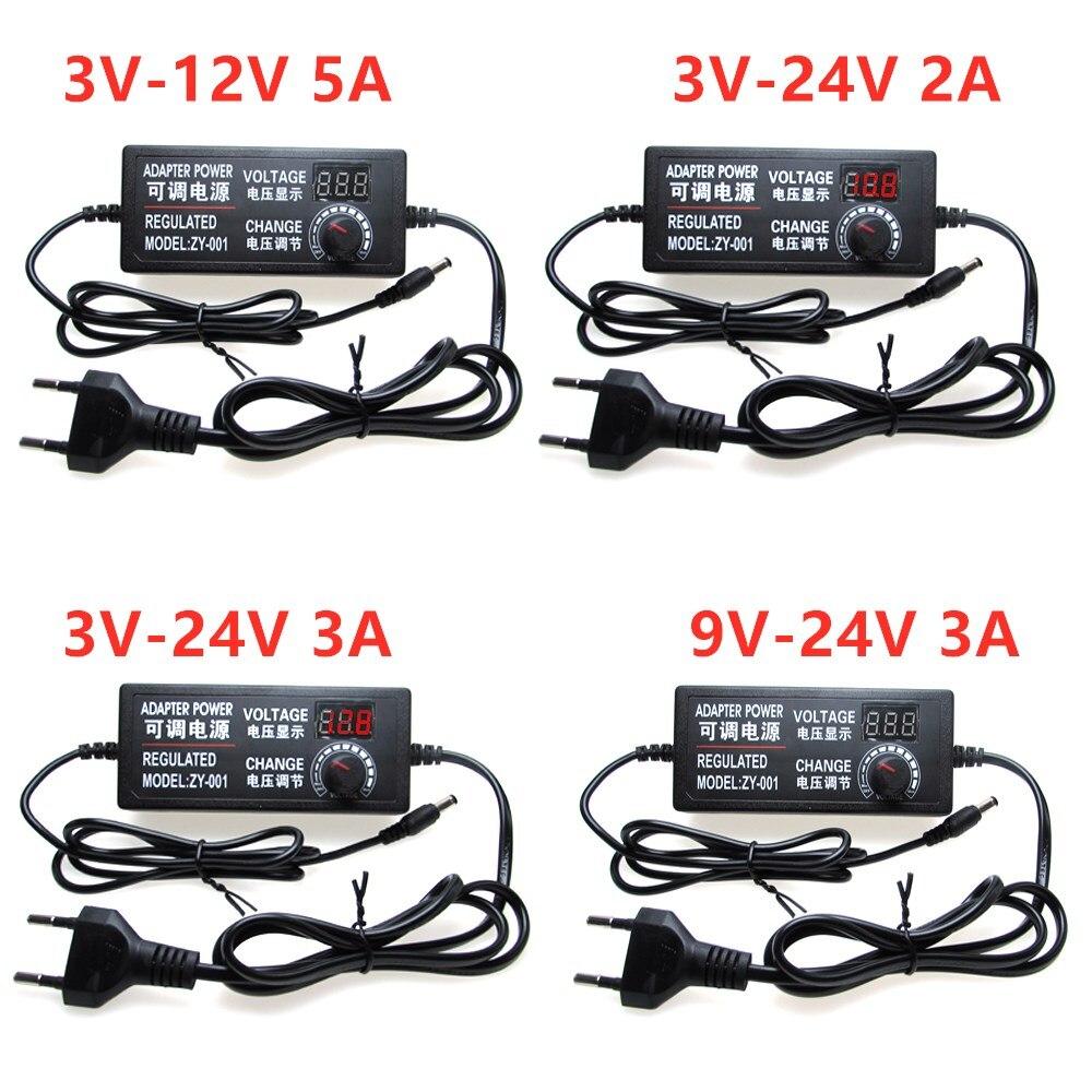 AC To DC Adjustable Power Adapter 3V 9V 12V 24V 36V 1A 2A Power Supply Adapter Universal 5 12 24 36 V Volt 1A 2A Led Strip Lamp