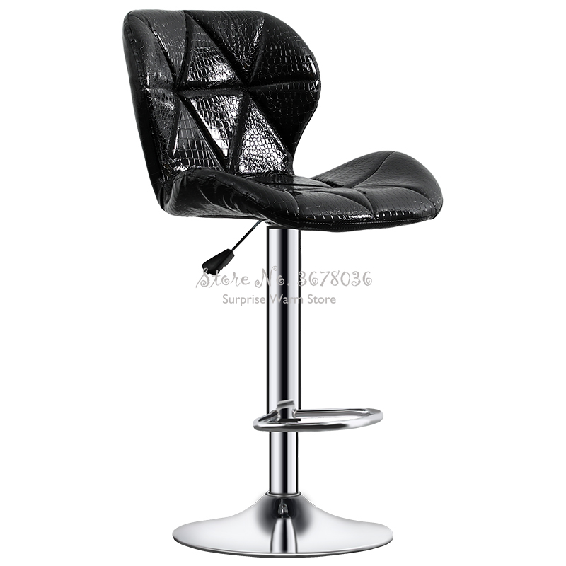 Modern Bar Chair Lifting Bar Chair Fashion Creative Beauty Stool Rotating Household Modern Backrest High Bar Table Stool