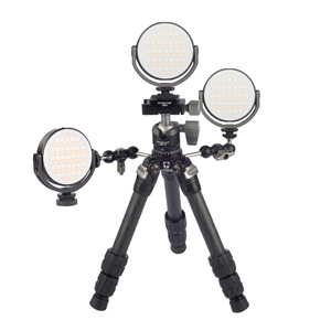 Image 4 - FOTOBETTER Adjustable LED Video Light Round RGB Full Color Fill Light Photography Lighting with Extend Magic Arm