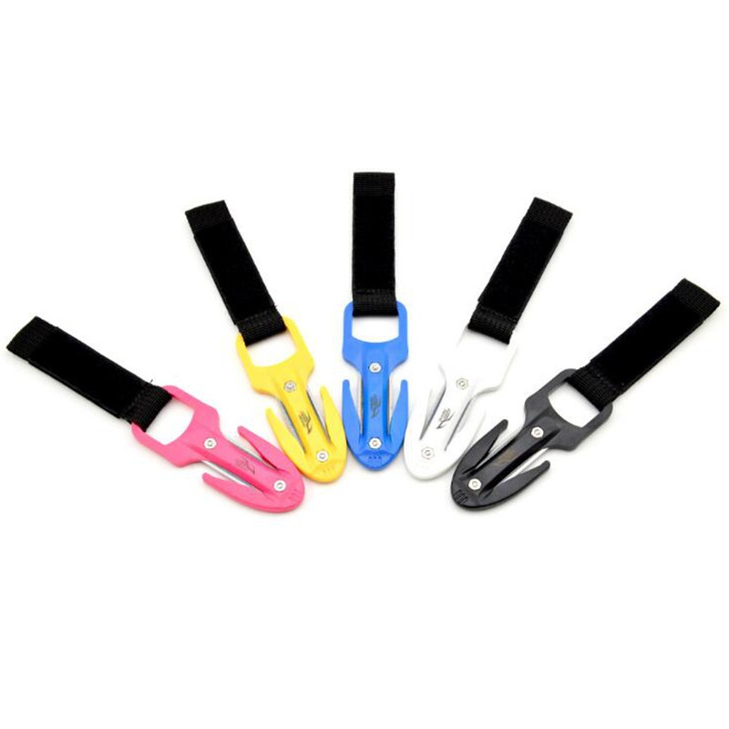 1.Portable Diving Cutting Knife Diving Snorkeling Safety Secant Cutting Knife Hand Line Cutter Diving Equipment M(China)